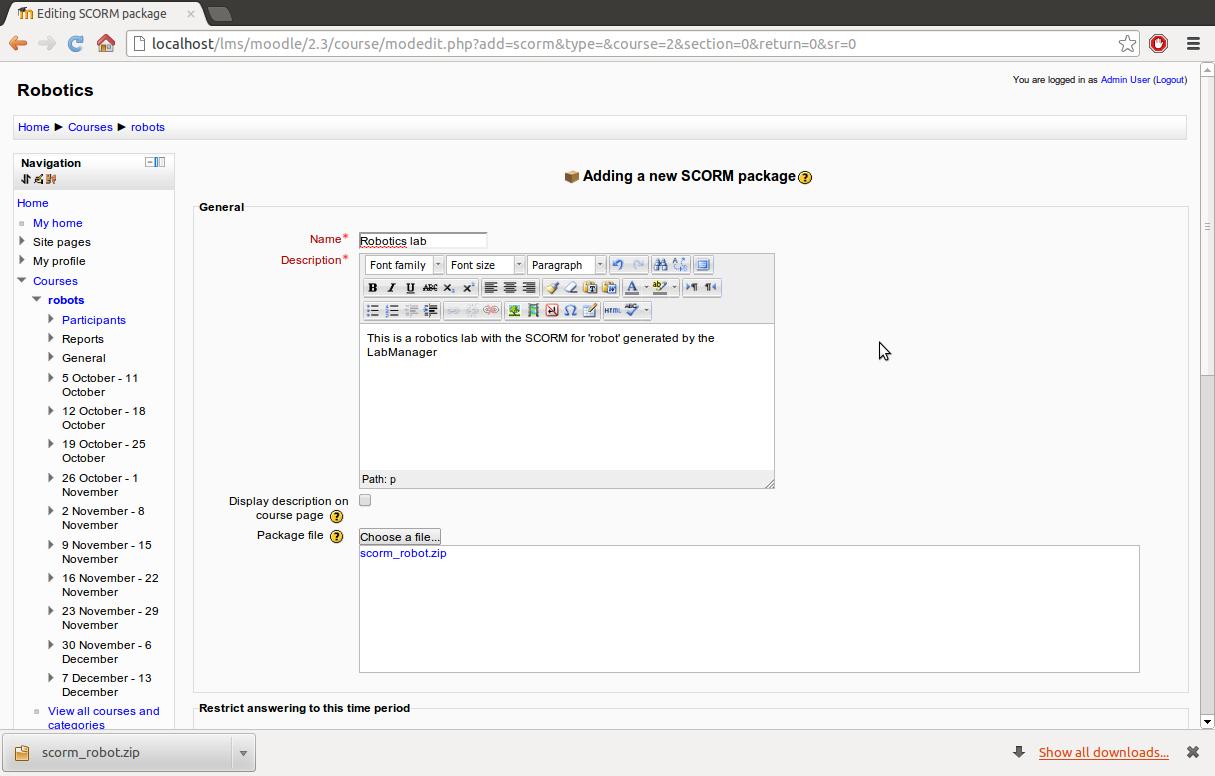 Usage: Moodle — gateway4labs 0 1 documentation